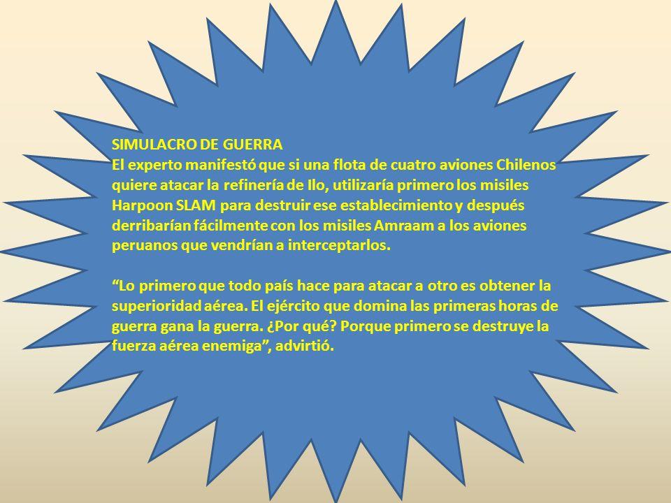DERROTA EN 30 MINUTOS Casanave también advirtió que Chile cuenta con seis aviones Hércules, que tienen la capacidad para transportar cada uno un tanqu