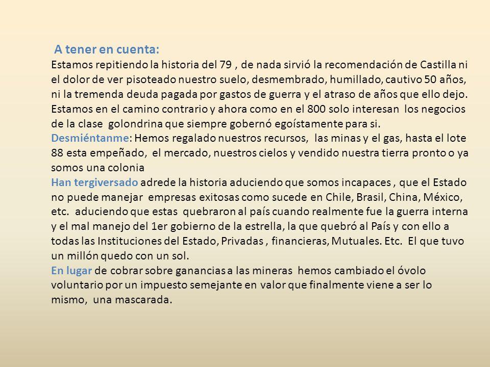 Exjefe del Comando Conjunto y embajador señalan que compras bélicas Chilenas son excesivas. Viernes 18 de noviembre del 2011 la Primera Un exjefe del