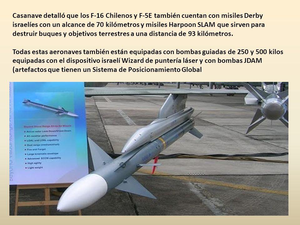 ChileChile tiene una ventaja considerable sobre la Fuerza Aérea del Perú, porque cuenta con 46 cazabombarderos F16, 18 cazabombarderos F5E, 47 aviones