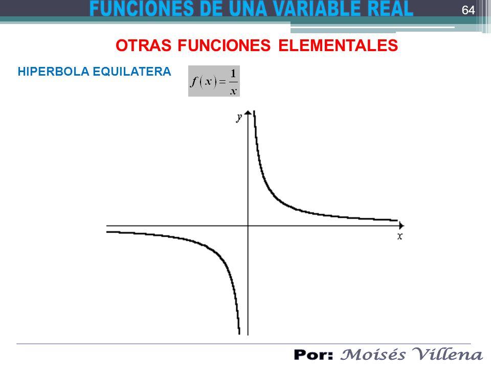 OTRAS FUNCIONES ELEMENTALES HIPERBOLA EQUILATERA 64
