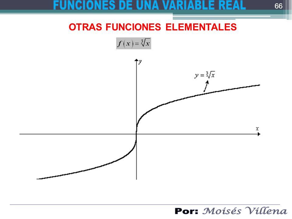OTRAS FUNCIONES ELEMENTALES 66