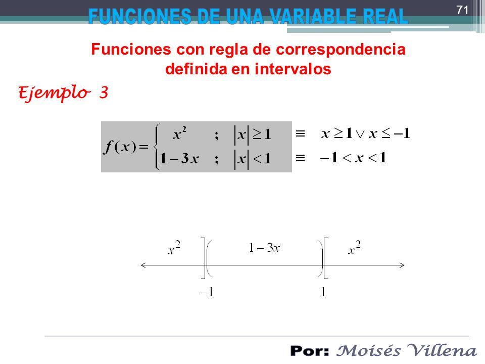Funciones con regla de correspondencia definida en intervalos Ejemplo 3 71