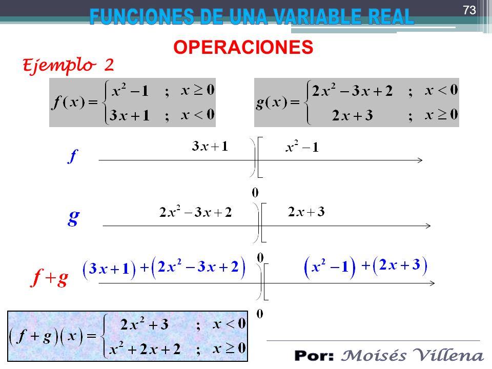OPERACIONES Ejemplo 2 73