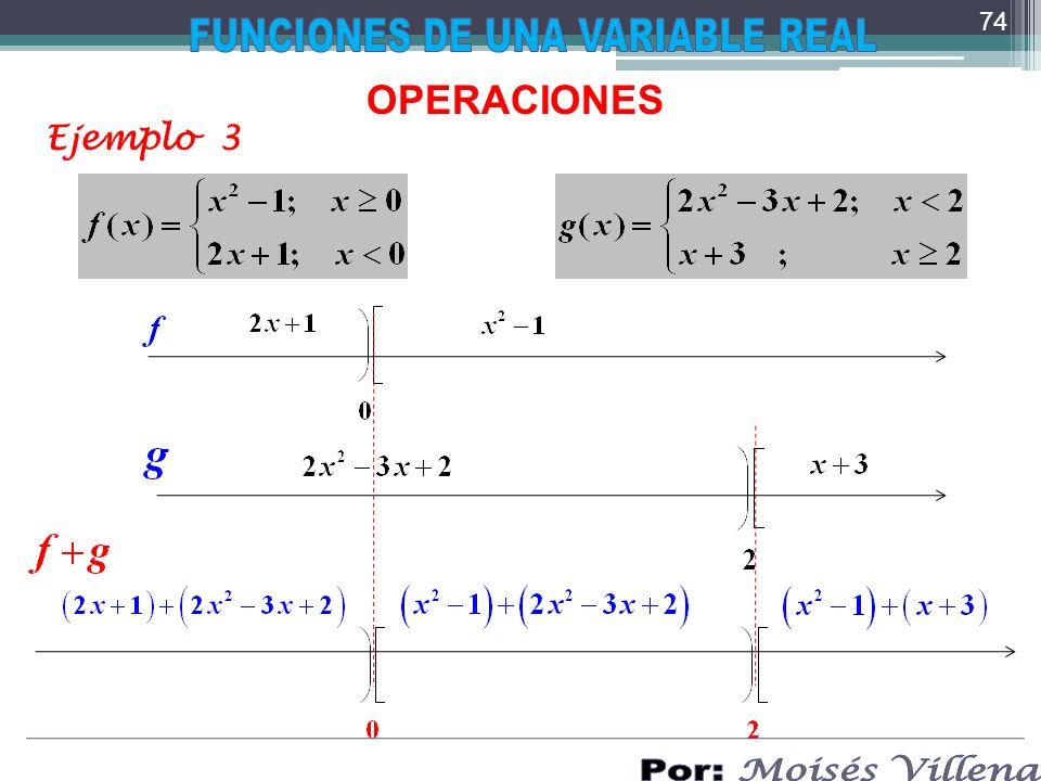 OPERACIONES Ejemplo 3 74