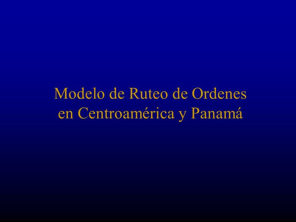 Modelo de Ruteo de Ordenes en Centroamérica y Panamá