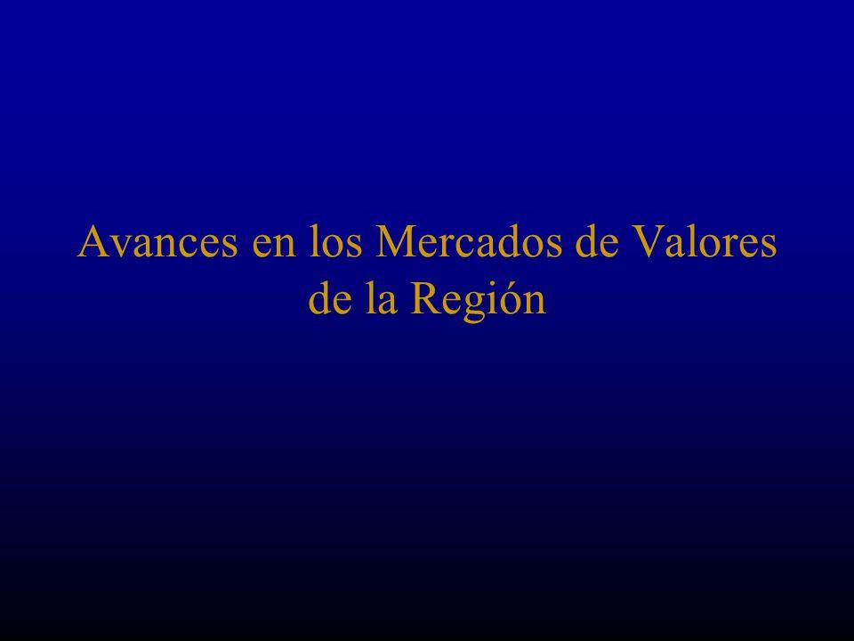 Avances en los Mercados de Valores de la Región