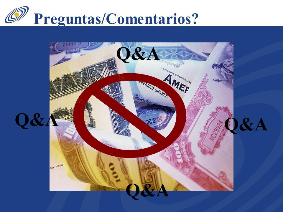 Preguntas/Comentarios Q&A