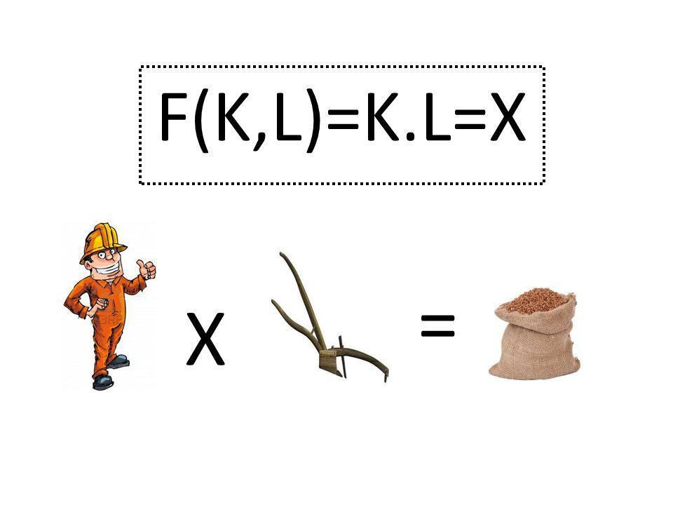 F(K,L)=K.L=X X =