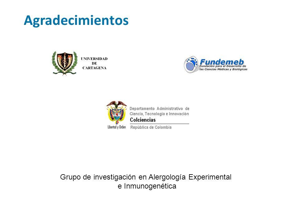 Agradecimientos Grupo de investigación en Alergología Experimental e Inmunogenética