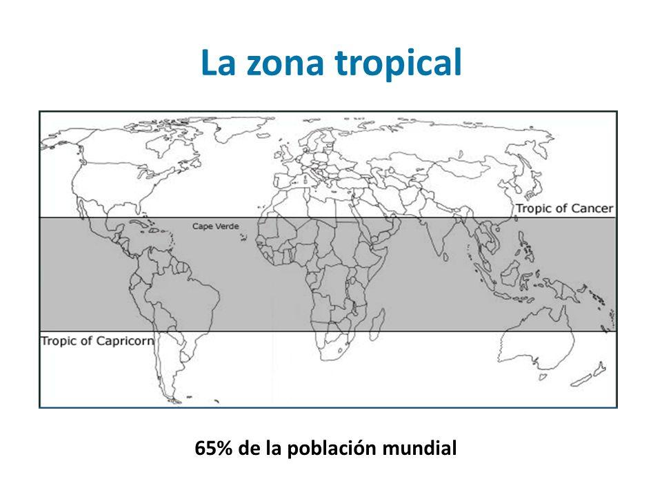 65% de la población mundial La zona tropical