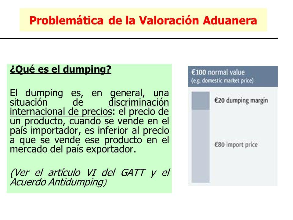 ¿Qué es el dumping? El dumping es, en general, una situación de discriminación internacional de precios: el precio de un producto, cuando se vende en