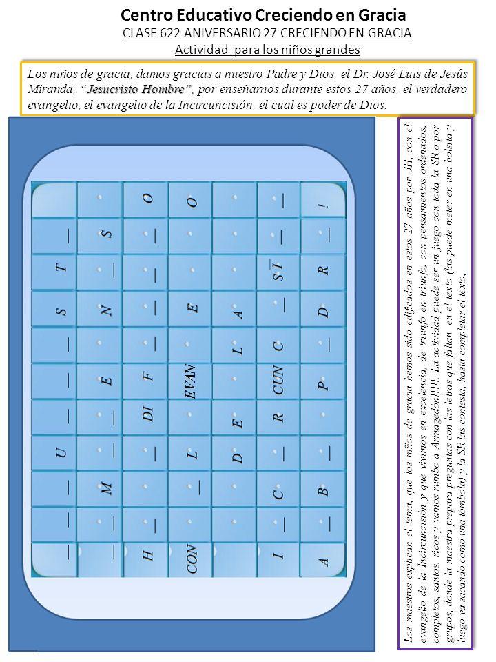 Letras para completar y ejemplos de posibles confesiones.