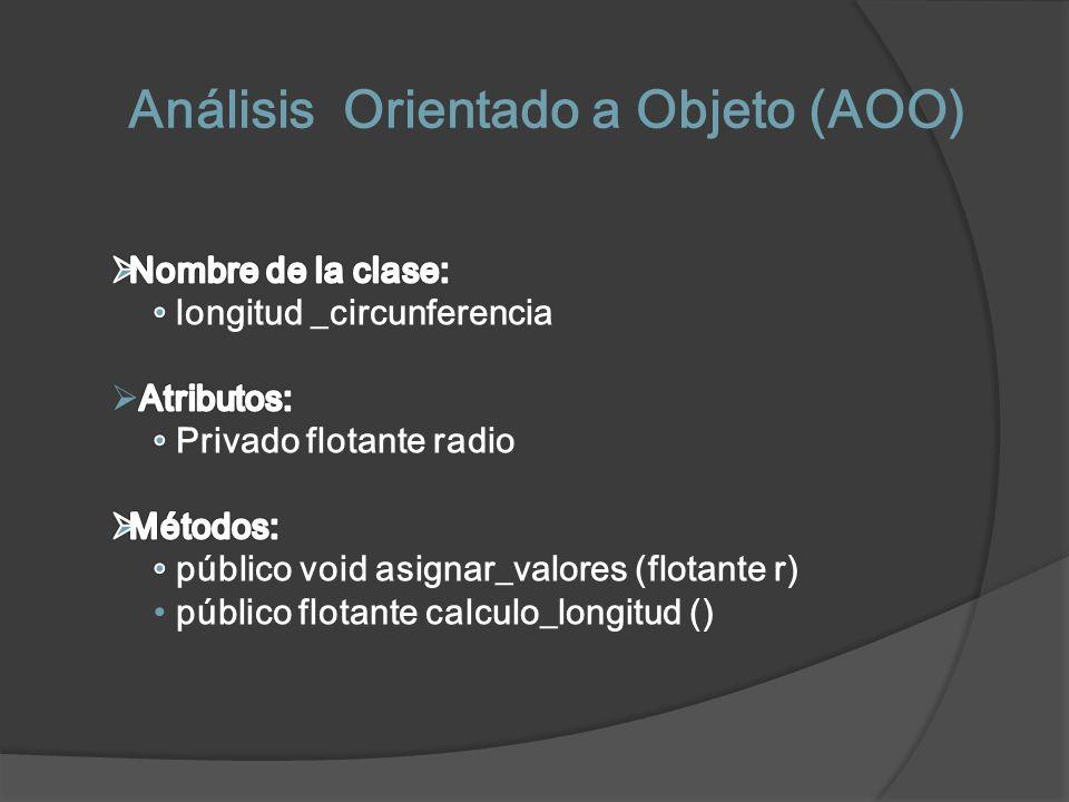 Análisis Orientado a Objeto (AOO)
