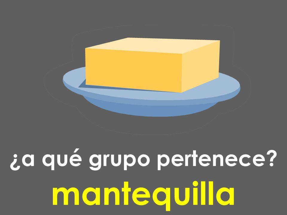 ¿a qué grupo pertenece? mantequilla