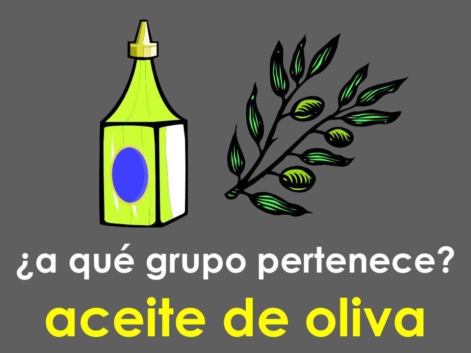 ¿a qué grupo pertenece? aceite de oliva