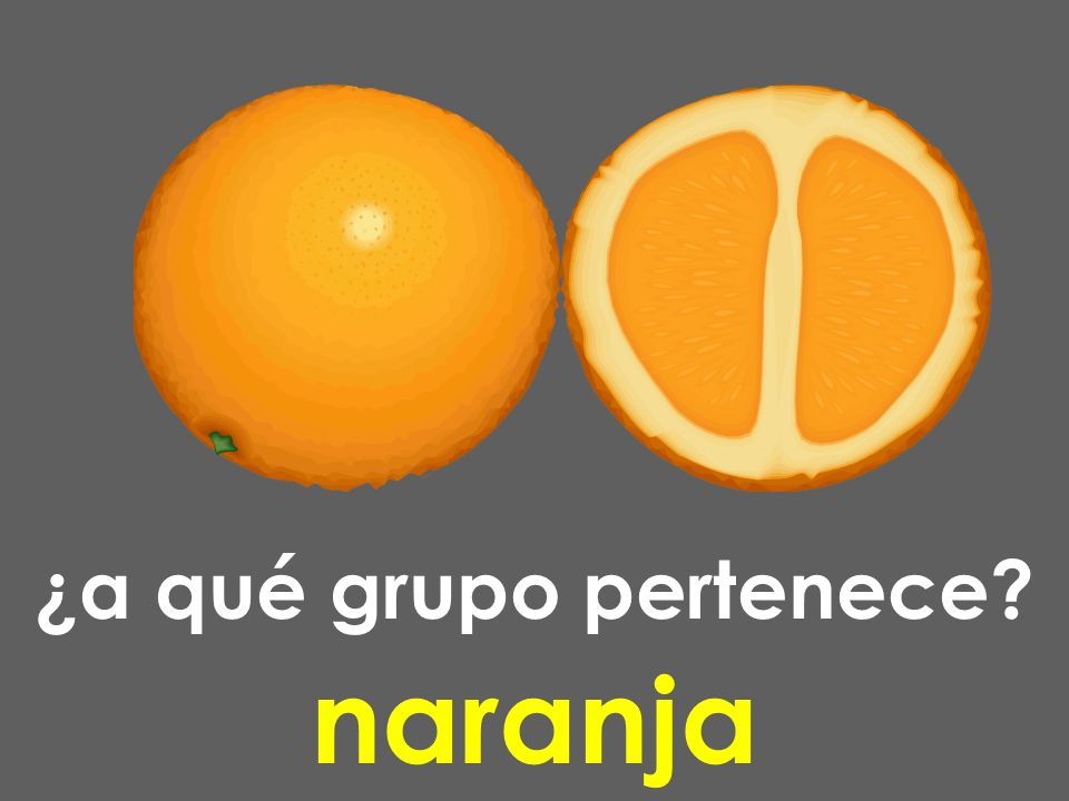 ¿a qué grupo pertenece? naranja