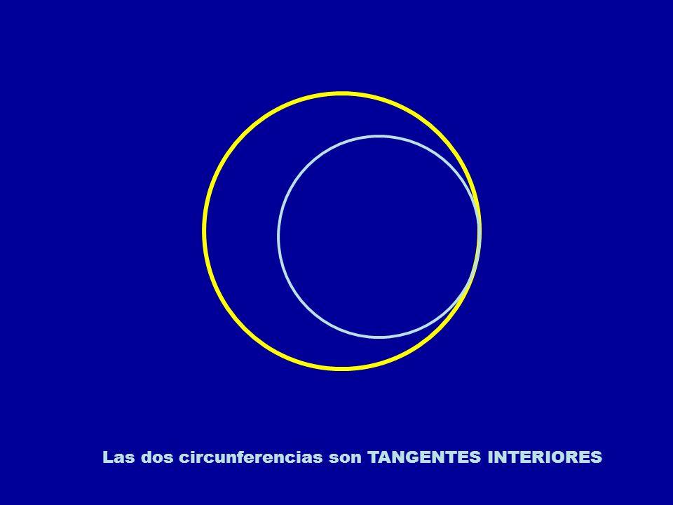 Las dos circunferencias son TANGENTES INTERIORES