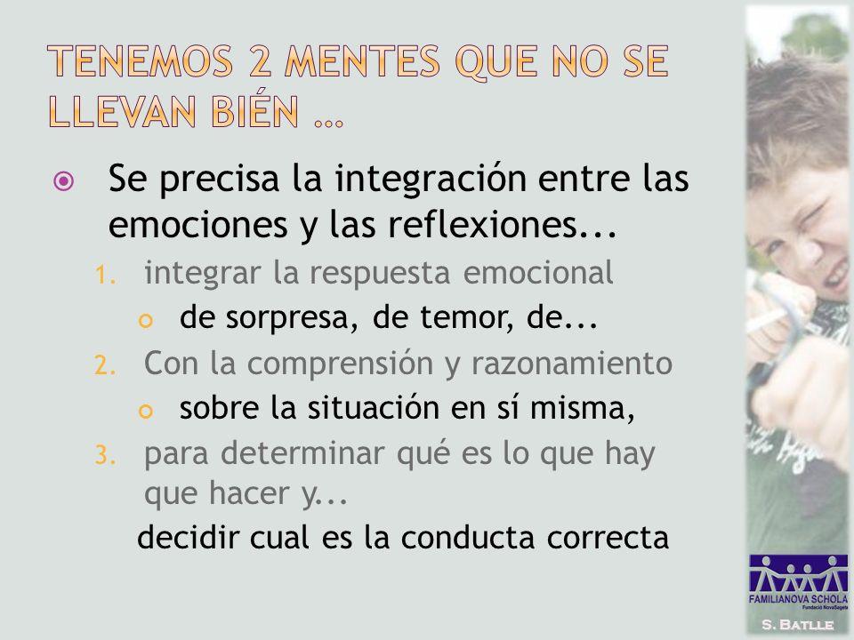 S. Batlle Se precisa la integración entre las emociones y las reflexiones...