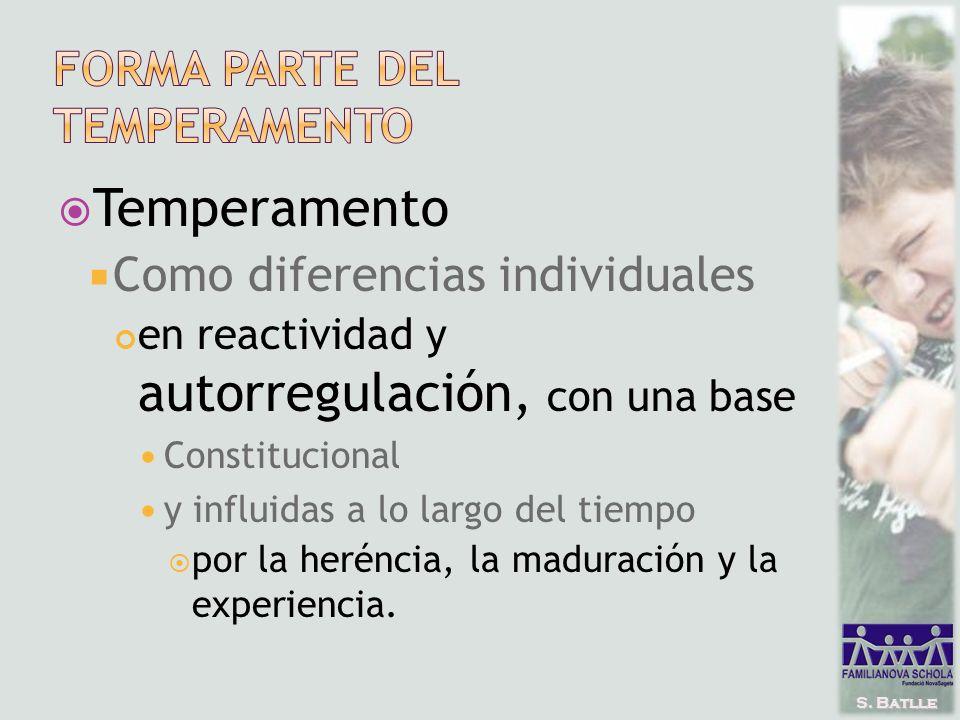 S. Batlle Temperamento Como diferencias individuales en reactividad y autorregulación, con una base Constitucional y influidas a lo largo del tiempo p