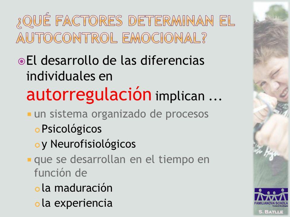 S. Batlle El desarrollo de las diferencias individuales en autorregulación implican...