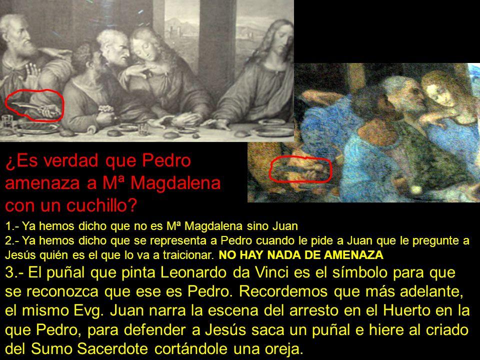 ¿Es verdad que Pedro amenaza a Mª Magdalena con un cuchillo? 1.- Ya hemos dicho que no es Mª Magdalena sino Juan 2.- Ya hemos dicho que se representa