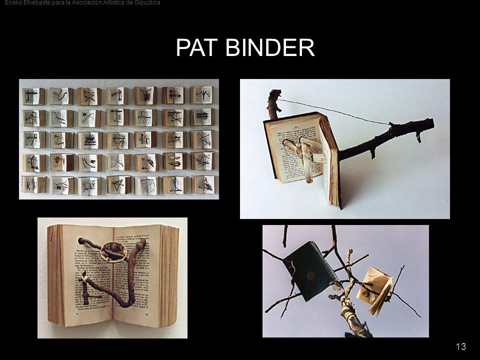 Eneko Etxebeste para la Asociación Artística de Gipuzkoa 13 PAT BINDER