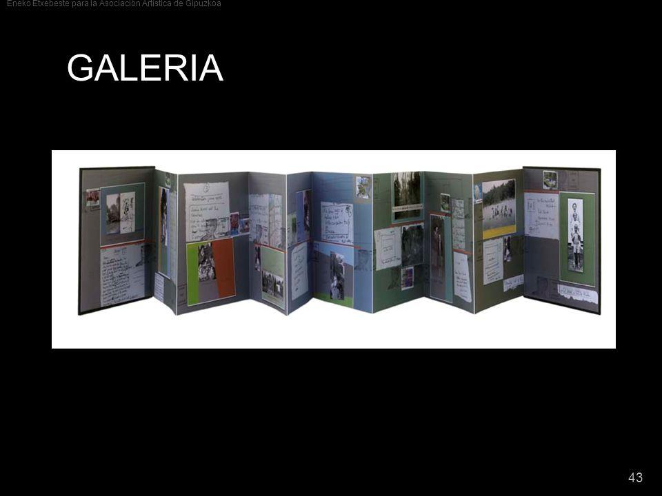 Eneko Etxebeste para la Asociación Artística de Gipuzkoa 43 GALERIA