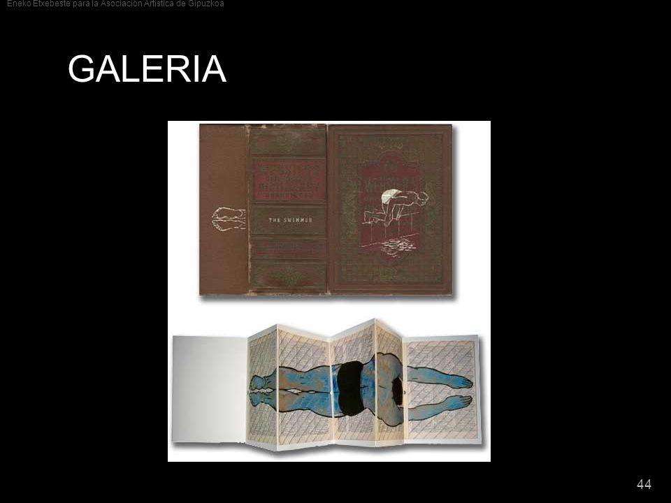 Eneko Etxebeste para la Asociación Artística de Gipuzkoa 44 GALERIA