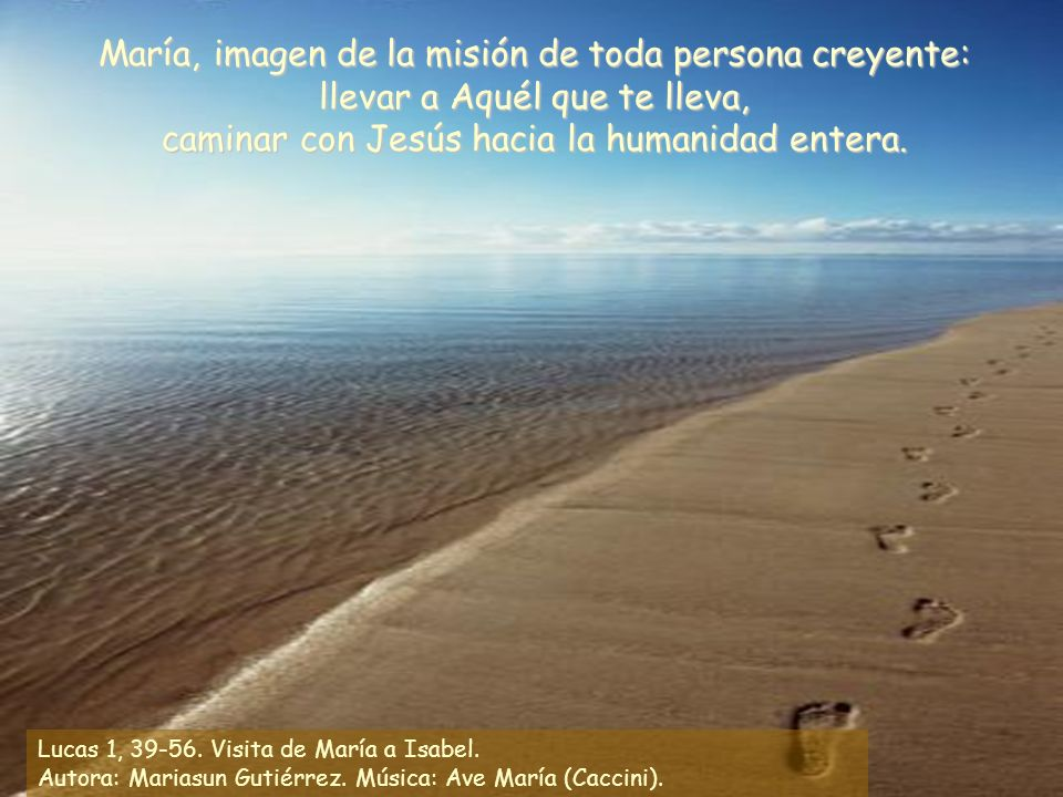 Lucas 1, 39-56.Visita de María a Isabel. Autora: Mariasun Gutiérrez.