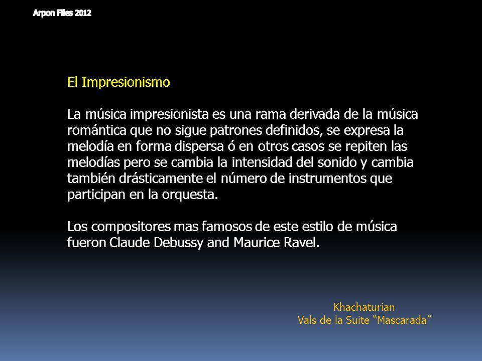 Música Moderna y Contemporánea ( 1920 - 2000 ) Maurice Ravel - Bolero