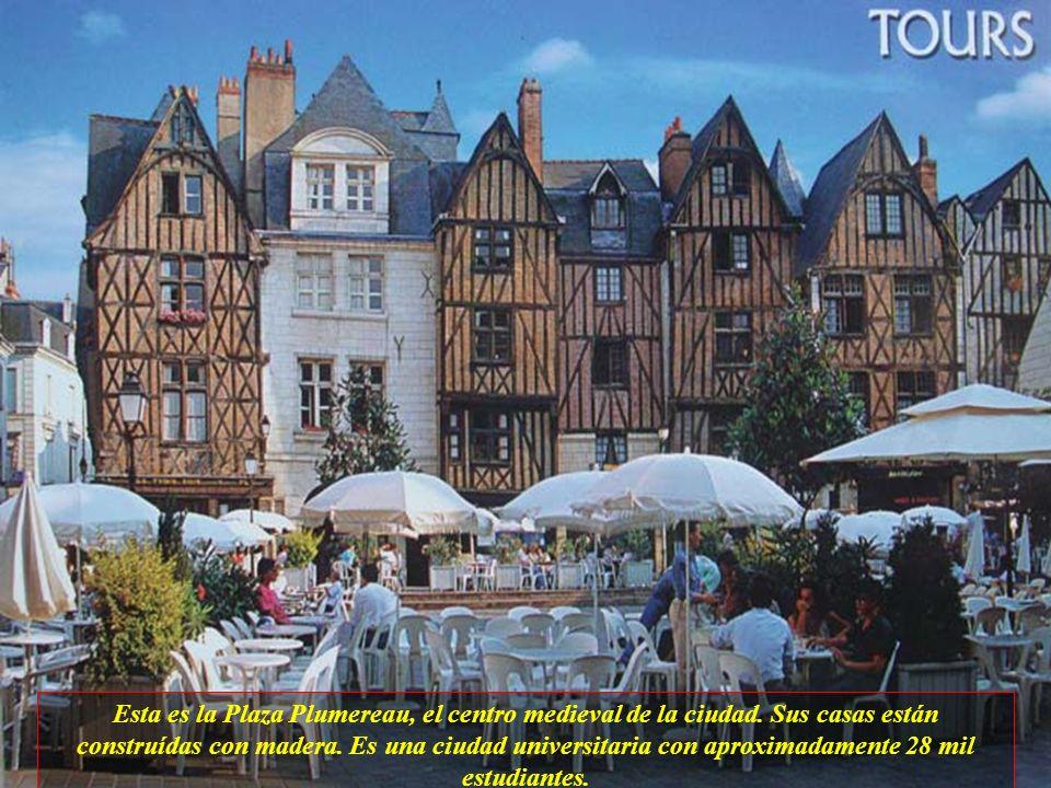 Tours es la más atrayente de las ciudades importantes de Loire, está situada en las márgenes de dos ríos Loire y Cher. Fué construída sobre una antigu