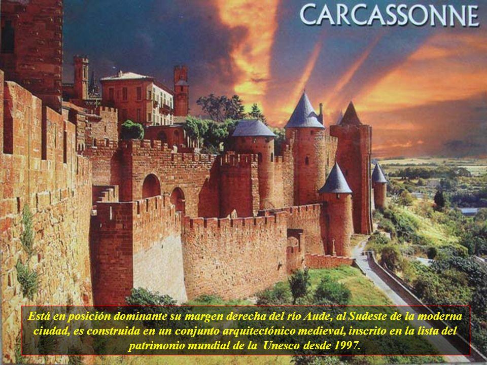La ciudad de Carcassone, está situada en el actual municipio de su propio nombre, en la zona de Aude, región de Languedoc-Roussillon, y su fundación f