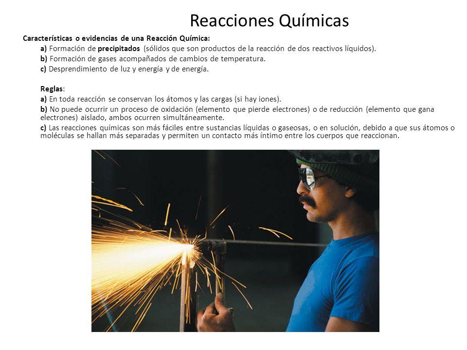 Reacciones Químicas Las ecuaciones químicas: son expresiones matemáticas abreviadas que se utilizan para describir lo que sucede en una reacción química en sus estados inicial y final.