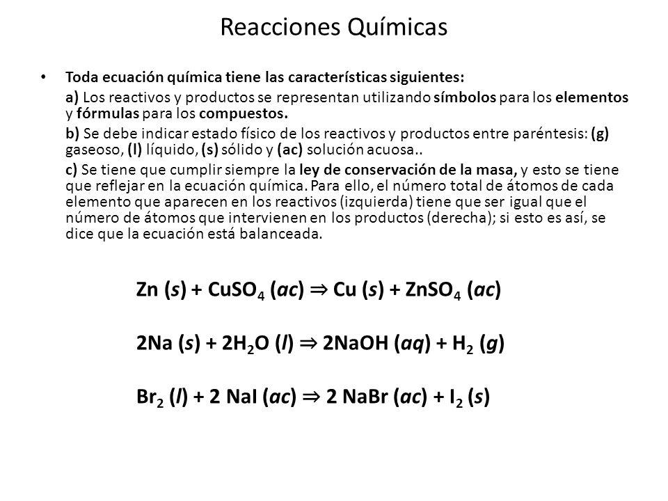 Para estudiar mejor las reacciones químicas resulta conveniente clasificarlas de la manera siguiente: 1.- Atendiendo a su estructura las podemos clasificar en reacciones de: a) Composición o síntesis.