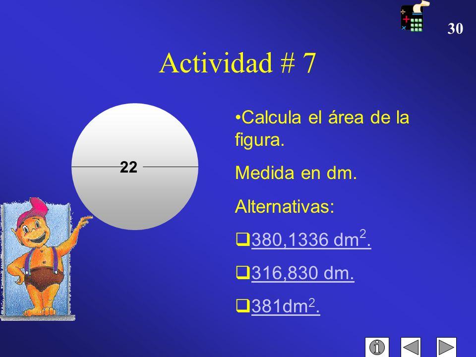 29 FELICIDADES Haga clic aquí para CONTINUAR Actividad #6 20 18 34 Calcula el área de la siguiente figura. Medidas en cm. Alternativas -490 cm -486 cm