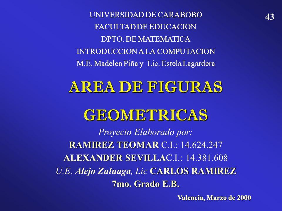 42 AMATIMA, J. Dibujo Técnico Aplicado para 9º Grado Educación Básica. Editorial Monfort. Caracas, Venezuela. BALDOR, Aurelio. Aritmética Teórico Prác