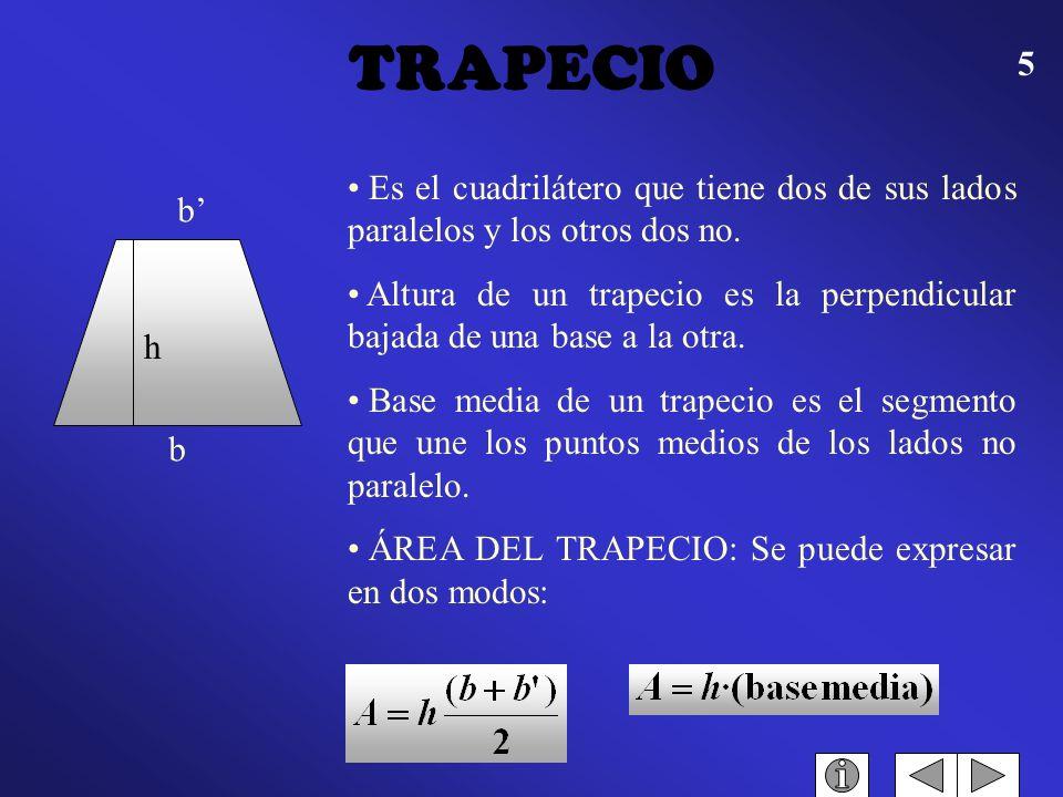 4 Es la porción de plano limitado por tres segmentos de rectas. Como base de un triángulo pueden tomarse uno cualquiera de sus lados, pero cuando el t