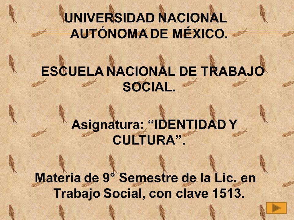 UNIVERSIDAD NACIONAL AUTÓNOMA DE MÉXICO.ESCUELA NACIONAL DE TRABAJO SOCIAL.