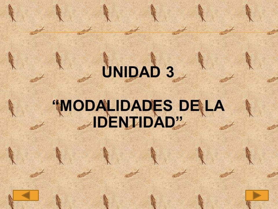 UNIDAD 3 MODALIDADES DE LA IDENTIDAD