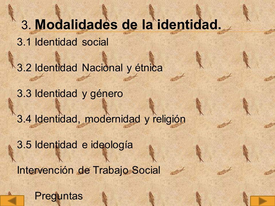 3.Modalidades de la identidad.