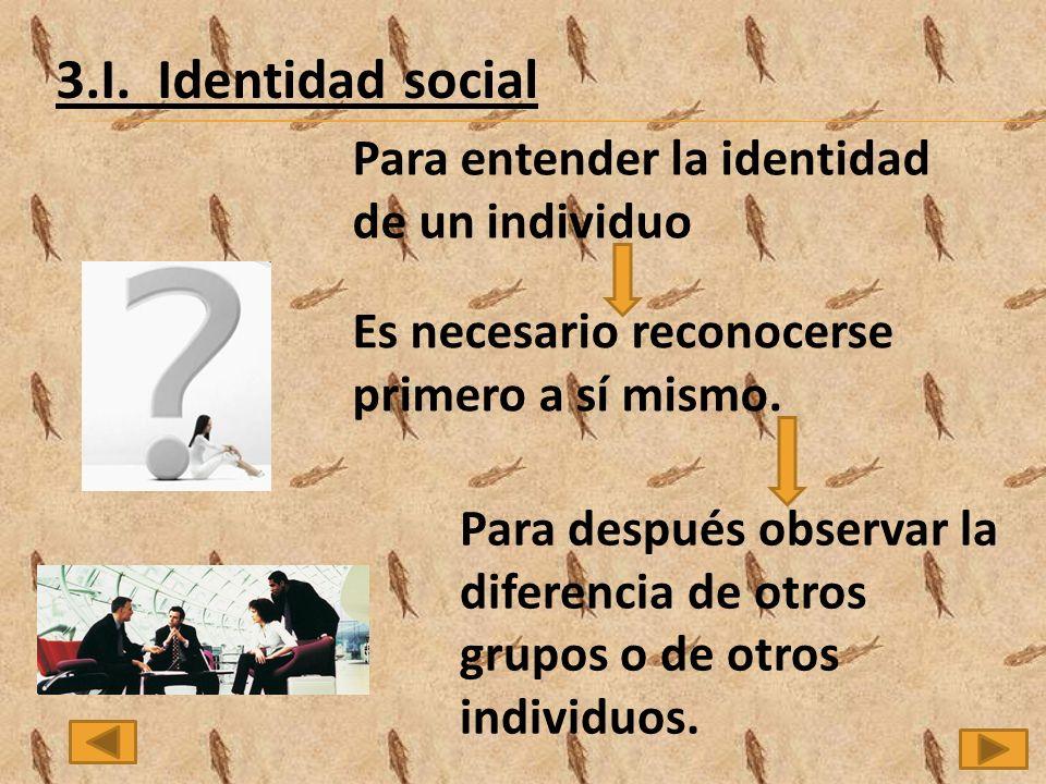 Para entender la identidad de un individuo Es necesario reconocerse primero a sí mismo.