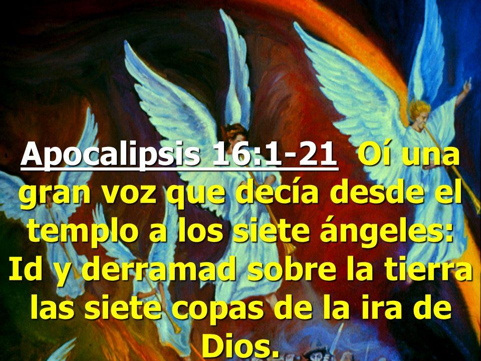 Apocalipsis 7:1-3 Después de esto vi a cuatro ángeles en pie sobre los cuatro ángulos de la tierra... Vi también otro ángel que subía donde sale el so