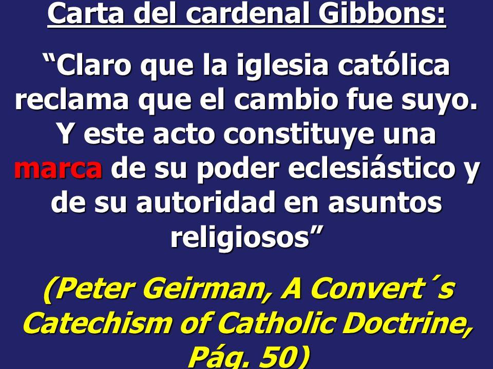 Falsificación del día de reposo La Santificación del Domingo como reconocimiento a la autoridad papal