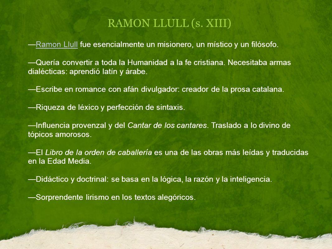 RAMON LLULL (s.