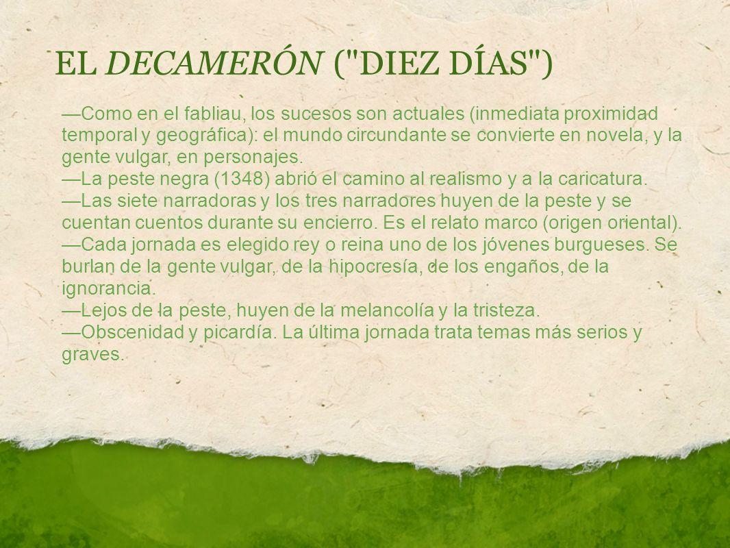 EL DECAMERÓN (