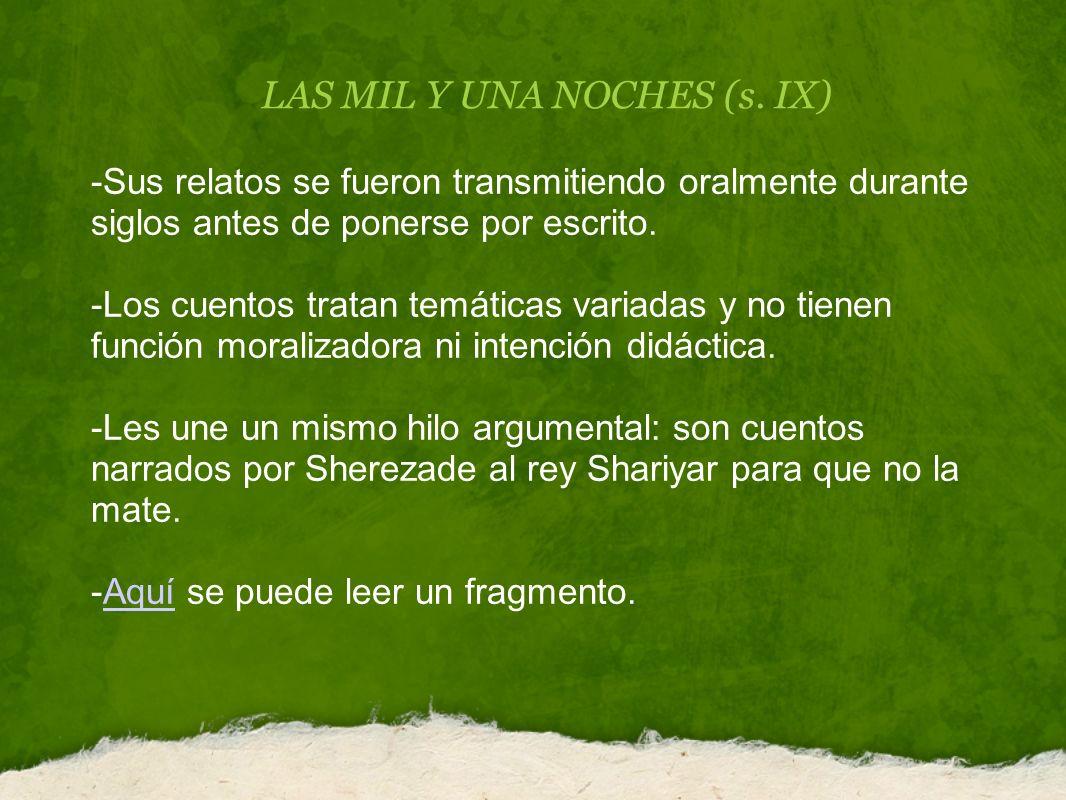 LAS MIL Y UNA NOCHES (s.