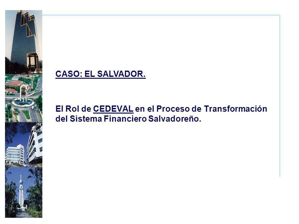 El Rol de CEDEVAL en el Proceso de Transformación del Sistema Financiero Salvadoreño.
