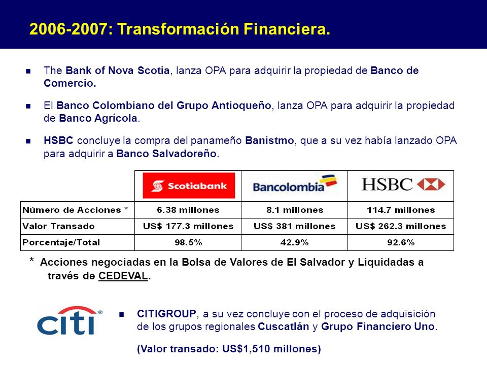 2006-2007: Transformación Financiera.