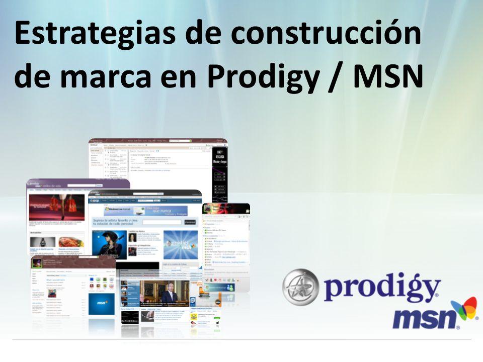 Estrategias de construcción de marca en Prodigy / MSN Contacto Prodigy MSN 5081 6747 01800 2231 414 ventas@prodigymsn.com