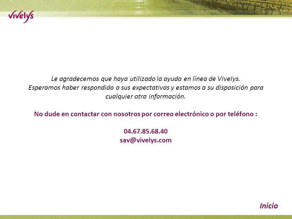 Le agradecemos que haya utilizado la ayuda en línea de Vivelys.